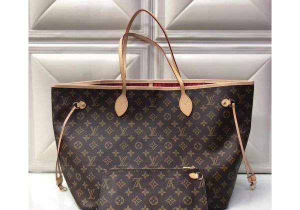 Сумка-шоппер Louis Vuitton коричневая