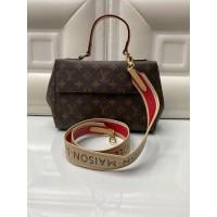 Сумка Louis Vuitton FAVORITE с бело-красным ремнем
