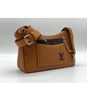 Сумка Louis Vuitton Favorite коричневая с цепочкой