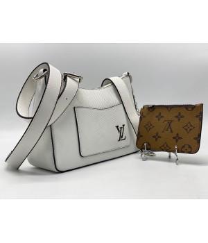 Сумка Louis Vuitton Favorite белая с коричневым