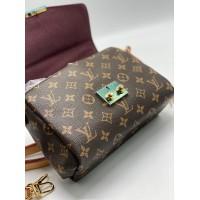 Сумка Louis Vuitton Croisette с ремнем коричневая