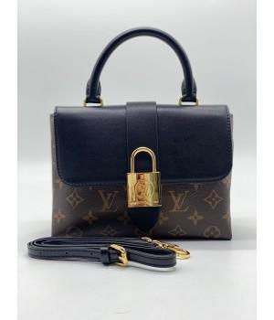 Сумка Louis Vuitton Croisette с замком черная