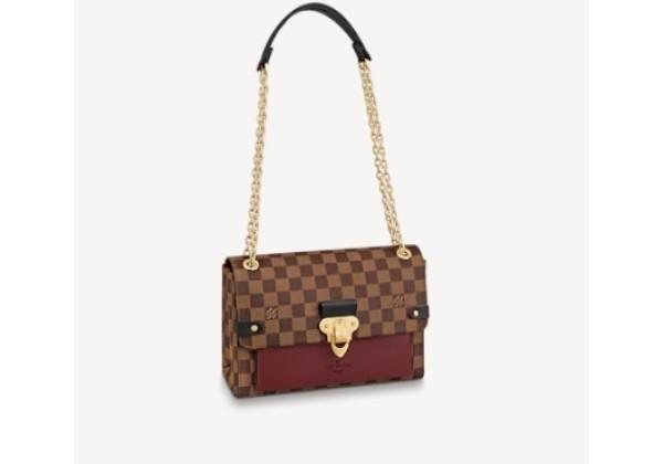 Сумка Louis Vuitton Damier коричнево-бордовая