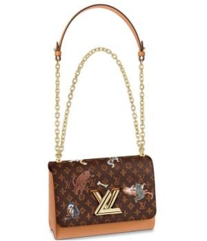 Сумка Louis Vuitton Twist коричневая