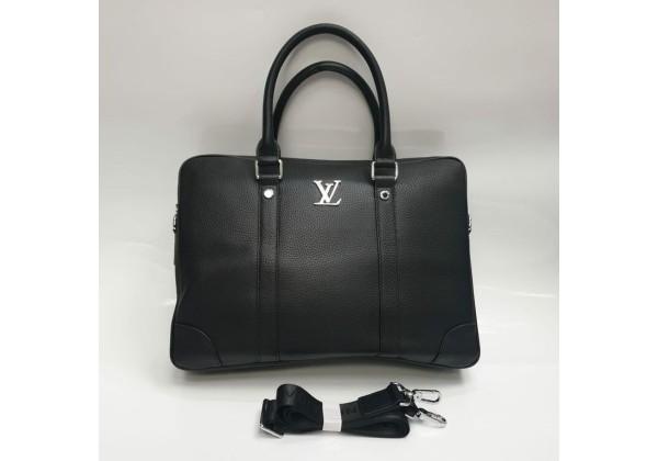 Сумка-портфель Louis Vuitton с логотипом черный