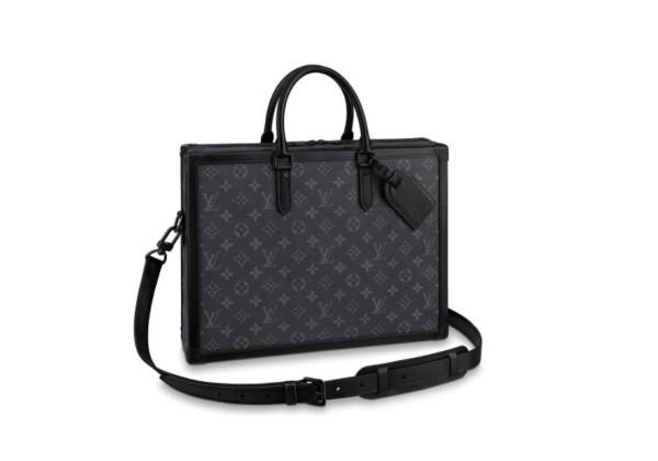 Портфель Louis Vuitton SOFT TRUNK MONOGRAM черный