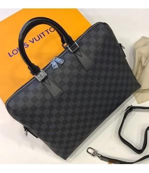 Портфель Louis Vuitton в клетку черный