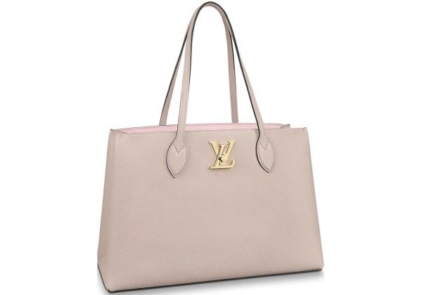 Сумка Шоппер Louis Vuitton Lock Me розовая