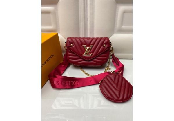 Сумка Louis Vuitton Pochette metis красная