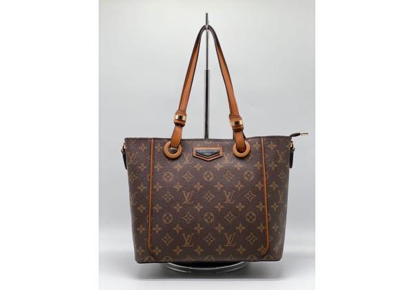 Сумка Louis Vuitton Neverfull коричневая с коричневой ручкой