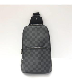 Сумка Louis Vuitton Avenue Sling Bag в клетку серая