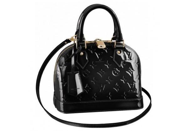 Луи Виттон Лакированная сумка черная