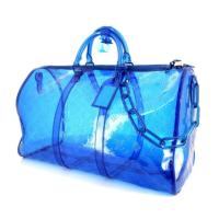 Сумка Louis Vuitton Keepall прозрачная синяя