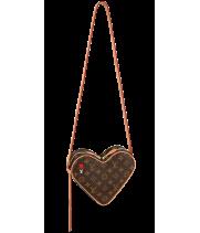 Сумка Louis Vuitton Game On Coeur коричневая