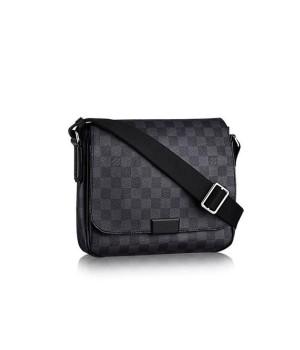 Сумка Louis Vuitton мужская DISTRICT в клетку черная