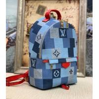 Рюкзак Louis Vuitton PALM SPRINGS PM сине-красный