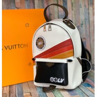 Рюкзак Louis Vuitton PALM SPRINGS PM бело-красно-черный