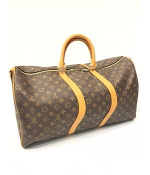 Сумка Louis Vuitton Keepall коричнево-желтая