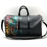 Сумка Louis Vuitton KEEPALL дорожная с пальмой