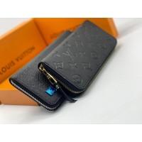 Кошелек Louis Vuitton ZIPPY кожаный черный
