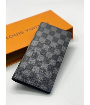Кошелек Louis Vuitton в клетку черный