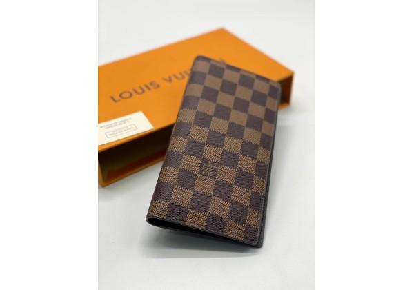 Кошелек Louis Vuitton в клетку коричневый