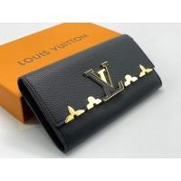 Кошелек Louis Vuitton кожаный черный