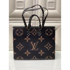 Сумка Louis Vuitton ONTHEGO черная c принтом