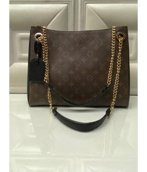 Сумка Louis Vuitton коричневая с черным