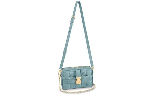 Сумка Louis Vuitton Troca pm голубая