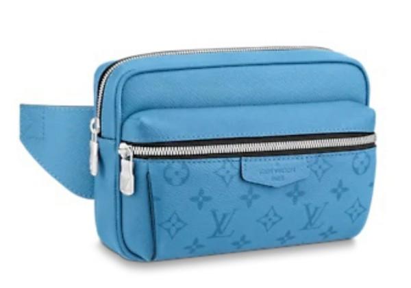 Поясная сумка Louis Vuitton Outdoor голубая
