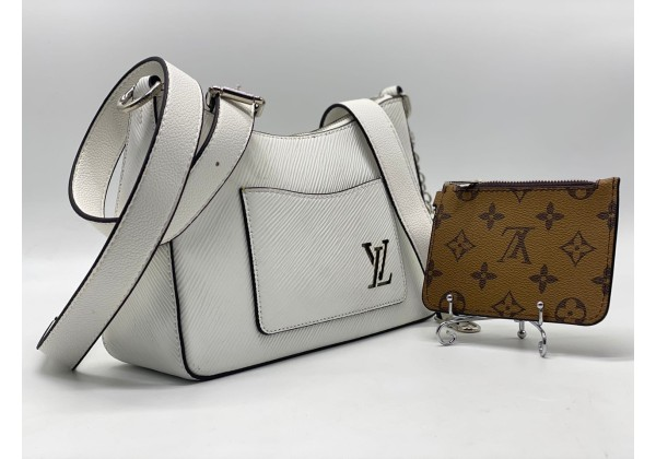 Сумка Louis Vuitton белая с монетницей