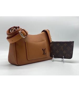 Сумка Louis Vuitton коричневая с монетницей