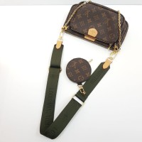 Сумка Луи Виттон с монетницей зеленая