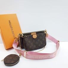 Сумка Louis Vuitton Multi Pochette Monogram розовая