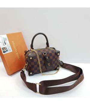 Сумка Louis Vuitton Cluny в клетку коричневая