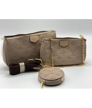 Сумка Louis Vuitton Multi Pochette бежевая
